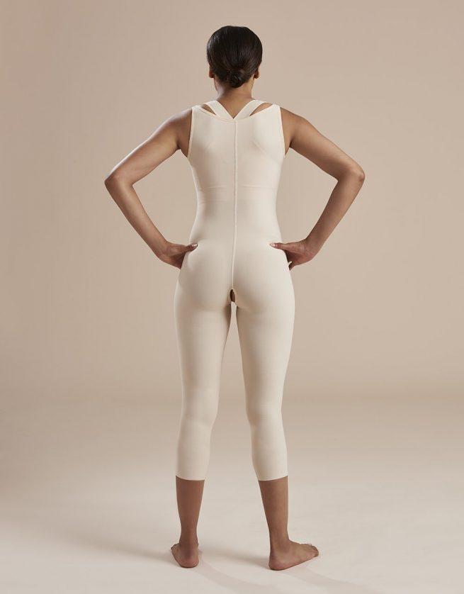 Calf Length Bodysuit Susp Front Closure high back - SFBHM - 01