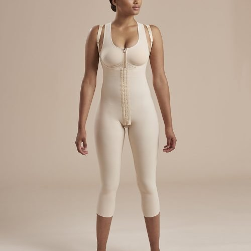 Calf Length Bodysuit Susp Front Closure high back - SFBHM - 02