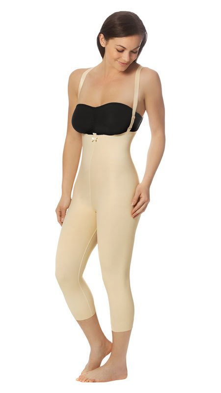 FBM2 - Zipperless Calf Length Bodysuit Suspenders