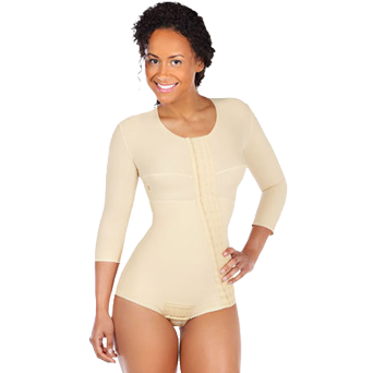 FTRASM | Bikini Length Bodysuit with Sleeves reinforced panels