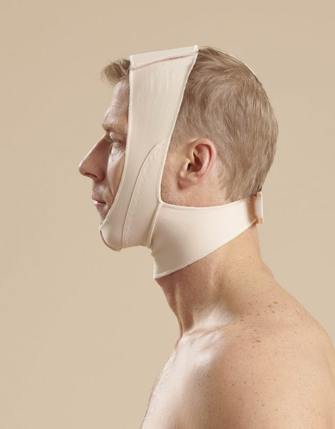 Mid Neck Surgical Chin Strap - FM100B Side Male