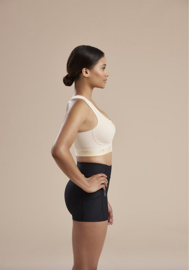 Compression Bra With Pockets - Easy On - Zipper _ 804ZP 01